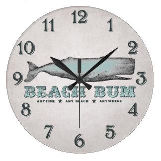 Vintage Whale Beach Bum Wall Clock