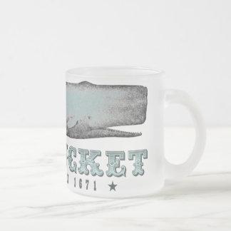 Vintage Whale Nantucket Massachusetts MA Inc 1671 Frosted Glass Coffee Mug