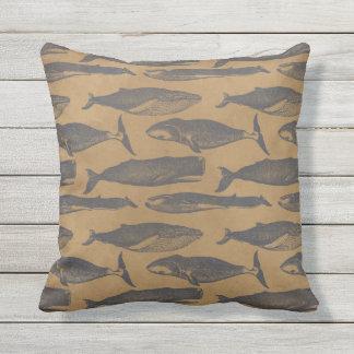 Vintage Whale Pillow