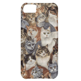 Vintage Whimsical Cat Pattern iPhone 5C Case