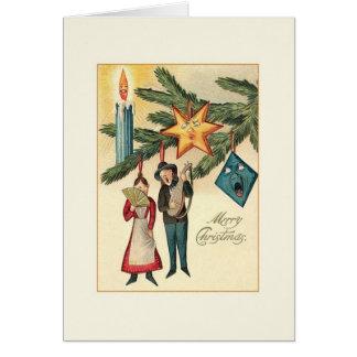 Vintage Whimsical Christmas Greeting Card