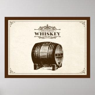 Vintage Whiskey Barrel Poster