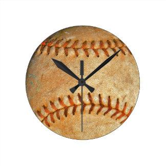 Vintage White Baseball red stitching Wallclock