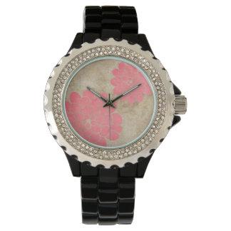 Vintage White Dahlia Floral Wedding Wrist Watch