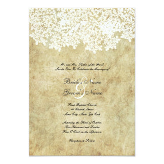 Vintage White Floral Wedding Invitations