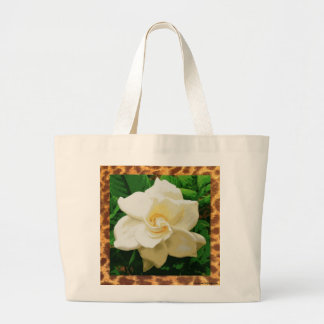 Vintage White Gardenia/Leopard Jumbo Tote Jumbo Tote Bag