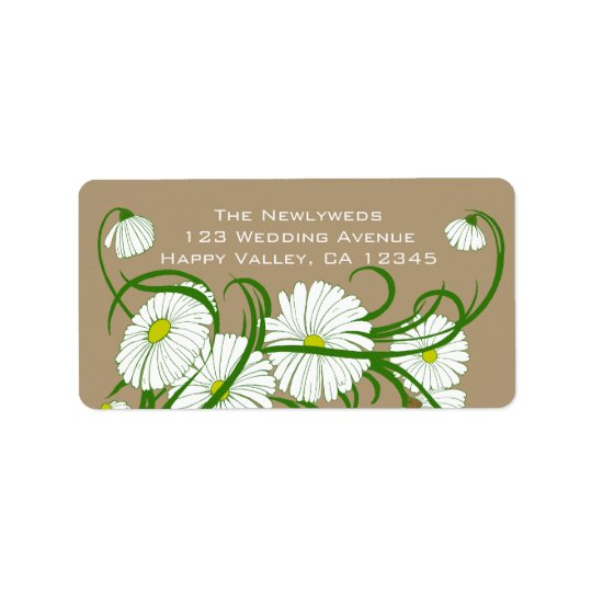 Vintage White Gerber Daisy Flowers Wedding Set