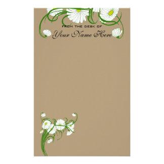 Vintage White Gerber Daisy Flowers Wedding Set Stationery
