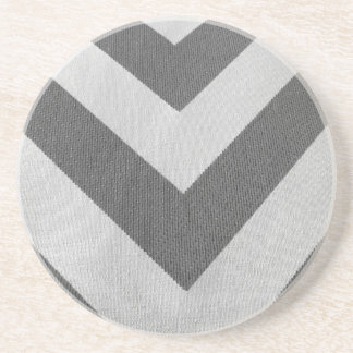 Vintage white gray texture chevron pattern drink coasters