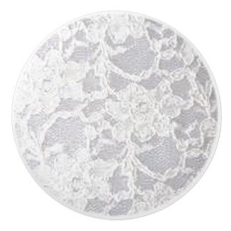 Vintage White Lace Ceramic Knob
