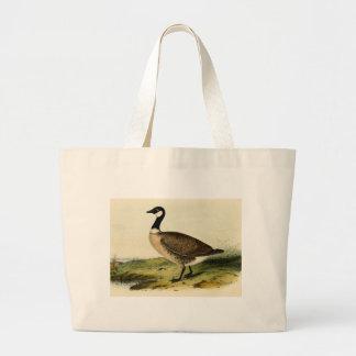 Vintage White Necked Goose Jumbo Tote Bag