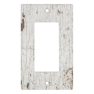 Vintage White Painted Wood Light Switch Cover