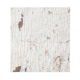 Vintage White Painted Wood Notepad
