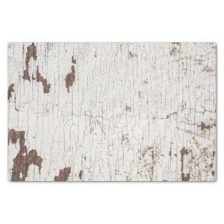 Vintage White Painted Wood Tissue Paper