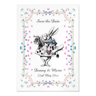 Vintage White Rabbit Alice in Wonderland Date Magnetic Card