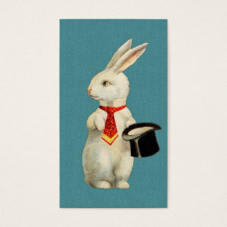 Vintage White Rabbit Business Card