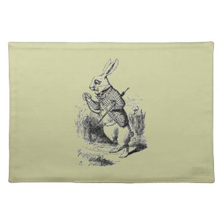 Vintage White Rabbit Placemat