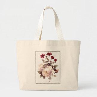 Vintage White Rose Bouquet Bag