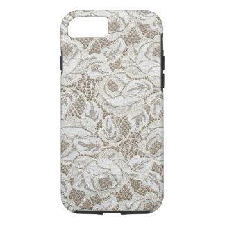 Vintage White Rose Lace iPhone 7 Case