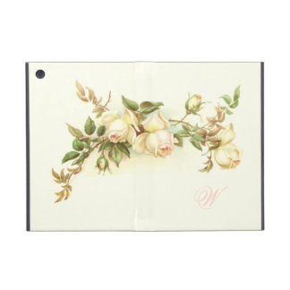 Vintage white rose spray iPad mini cover