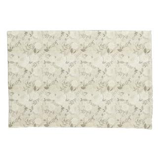 Vintage White Roses Pillowcase