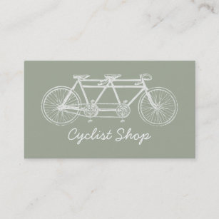 Shops bicycle business cards business card printing zazzle ca vintage white tandem bicycle business card colourmoves