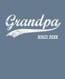 Vintage White Text Grandpa Since [year] T-shirt