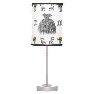 vintage white women dress decorative lamp shade