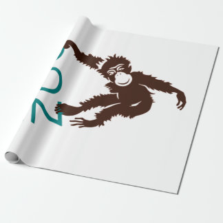 Vintage Whos Who in the Zoo Monkey Wrapping Paper