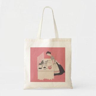 Vintage Wife Baking Tote Bag