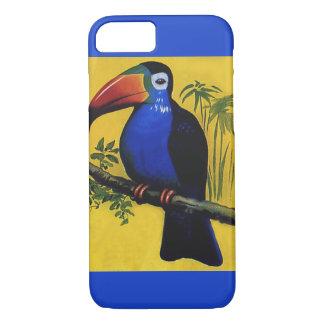 Vintage Wild Animal Birds, Tropical Toucan in Tree iPhone 7 Case