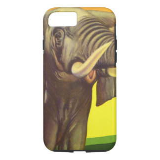 Vintage Wild Animals, African Elephant with Sunset iPhone 7 Case