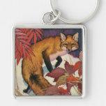 Vintage Wild Animals, Forest Creature, Red Fox Key Chains