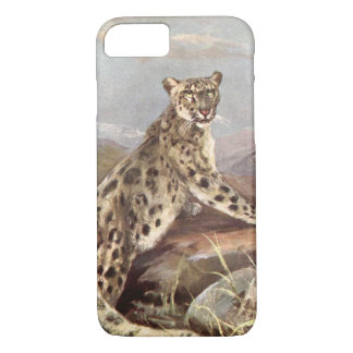 Vintage Wild Animals, Snow Leopard by CE Swan iPhone 7 Case