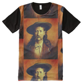 Vintage Wild Bill Hickok All Over Print T-shirt