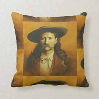 Vintage Wild Bill Hickok Throw Cushion