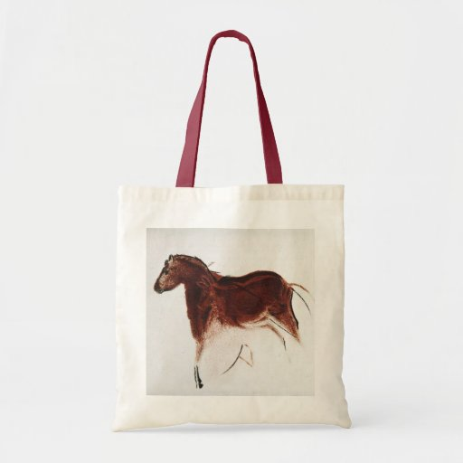 Vintage Wild Horse Cave Painting Tote Bag