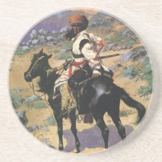 Vintage Wild West, An Indian Trapper by Remington Coaster
