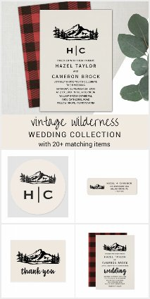 Vintage Wilderness Wedding Invitation Collection