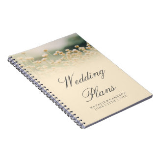 Vintage Wildflower Boho Wedding Planner Notebook