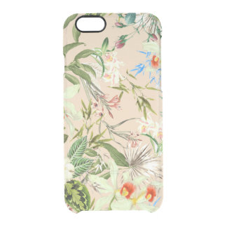 Vintage Wildflowers Pattern Clear iPhone 6/6S Case