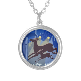 Vintage Wildlife Animal Silver Plated Necklace