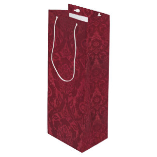 Vintage William Morris Acorn Embossed Velvet Wine Gift Bag