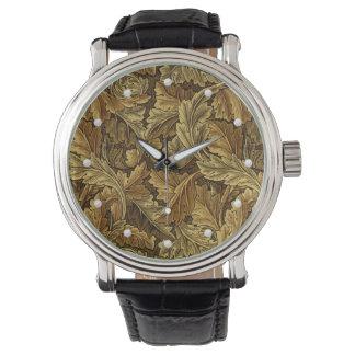 Vintage William Morris autumn leaves pattern Watch