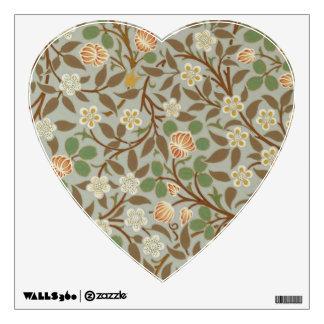 Vintage William Morris Clover Floral Design Wall Sticker
