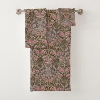Vintage William Morris Columbine Bath Towel Set