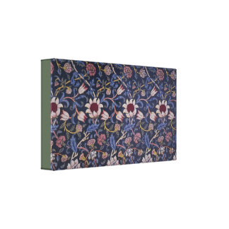 Vintage William Morris Evenlode Textile Design Canvas Print