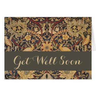 Vintage William Morris Get Well Greeting Card