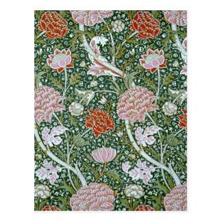 Vintage William Morris Pattern Postcard
