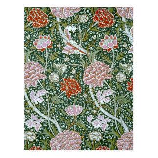 Vintage William Morris Pattern Postcard